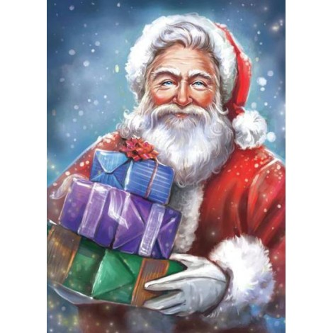 Santa Clause with Christmas Gifts Diamond Painting Kit