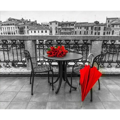 Red Rose Bouquet on Table