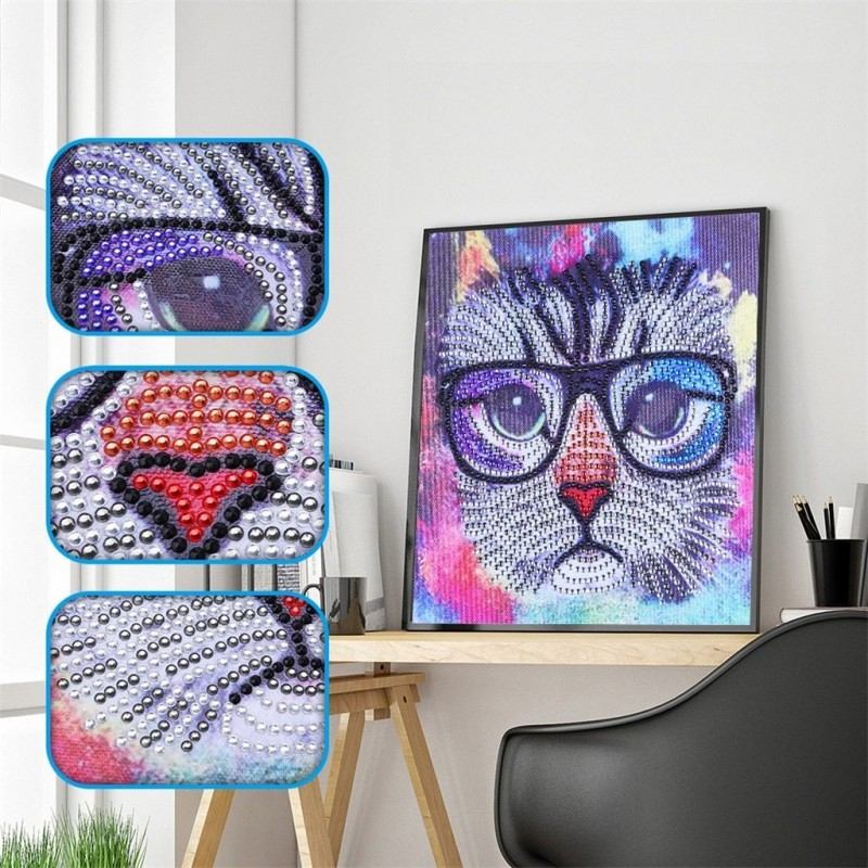 Cat with Glasses - S...