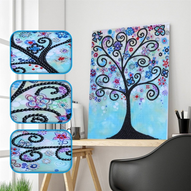 Blue Abstract Trees ...