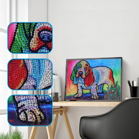 Colorful Little Dog - Special Diamond Painting