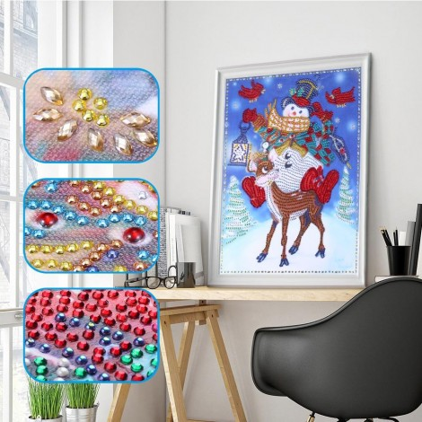 Snowman and Deer - Special Diamond Painting