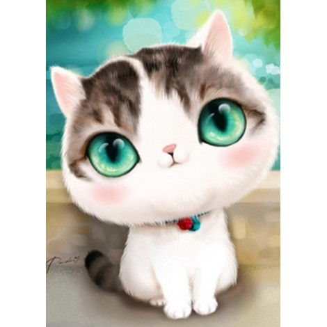 Adorable Little Cat with Big Eyes