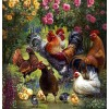 Flower Garden & Chickens