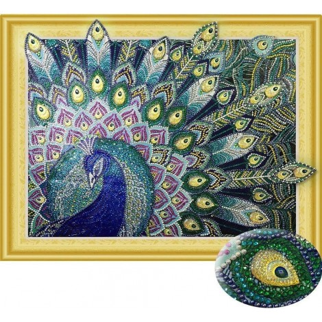 Special Majestic Peacock Diamond Art Kit for Adults