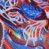 Colorful Sleeping Tiger - Special Diamond Painting