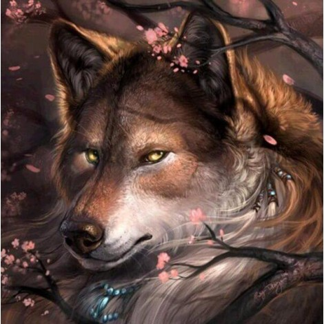 Wolf & Tree Branches Painting Kit