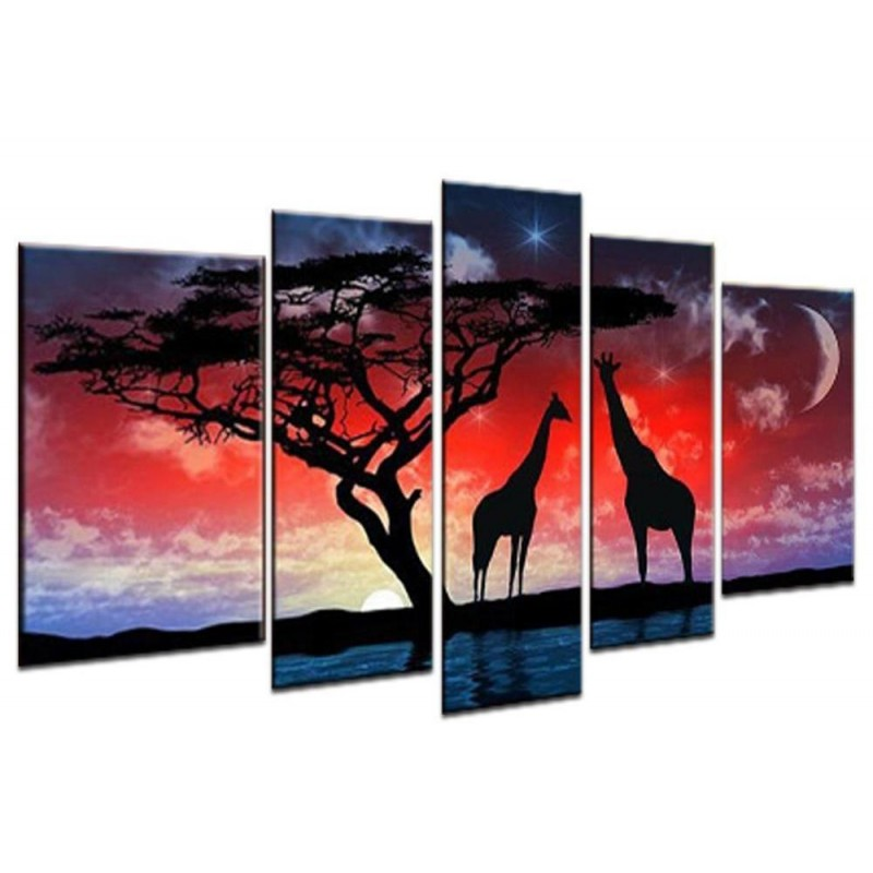 5 Piece Wall Art Dia...